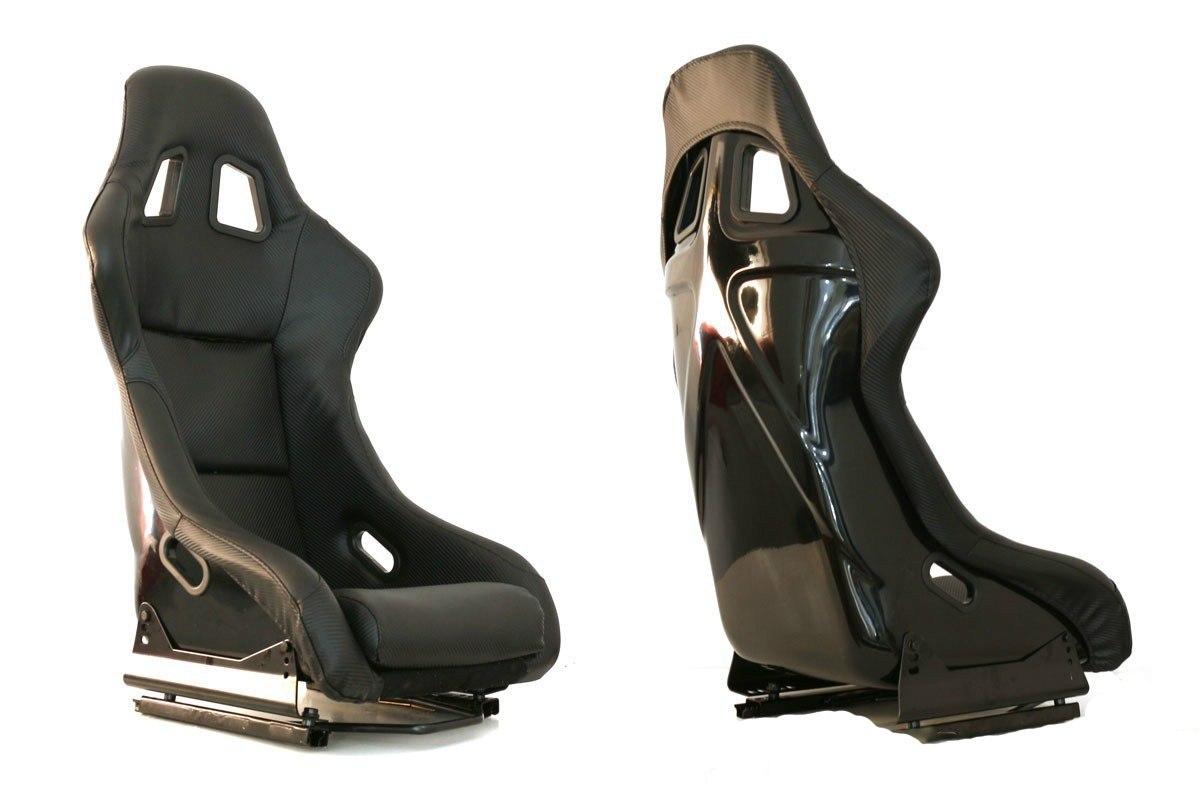 Fotel sportowy EVO Carbon Black - GRUBYGARAGE - Sklep Tuningowy